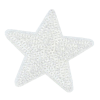 Application star, white with sequins, 5.8cm