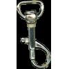 Musketonhaak, klein, 4,3cmx1,3cm, zilver, P-haak