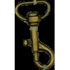 Musketonhaak, klein, 4,3cmx1,7cm, brons, P-haak
