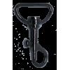 Musketonhaak, klein, 4,5cmx2,5cm, zwart, P-haak