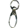 Carabiner, small, 4,3cmx1cm, silver-coloured, oval hook