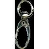Musketonhaak, klein, 4,3cmx1cm, zilver, ovale haak