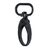 Carabiner, small, 4cmx1,5cm, black, oval hook