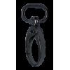 Musketonhaak, klein, 4cmx1,5cm, zwart, ovale haak