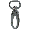 Carabiner, small, 4cmx1,5cm, silver-coloured, oval hook