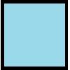 Flockfolie, 20x25cm, blauw