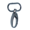 Carabiner, large, 4,5cmx2,5cm, black, oval hook