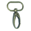 Carabiner, large, 4,5cmx2,5cm, bronze, oval hook