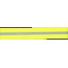 Reflectieband, 2,5cm, geel - per 25cm