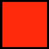 Flock foil, 20x25cm, neon red