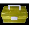 Boîte à coudre, 26cm, plastique, jaune