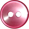 Bouton, 11mm, rond, rose