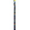 Single-pointed with knob, aluminium, 40cm, 2,50mm - per pair