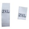 Size labels white - 2XL (per 10)