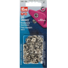 Refill press fasteners Jersey, 10mm, silver-coloured