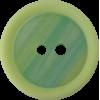 Knoop, 15mm, rond, groen met muntgroene rand