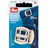Waistband buckles, 20mm, silver-coloured, 2pce