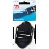 Regelbare klemgespen, 40mm, zwart, 2st