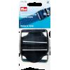 Regelbare klemgespen, 50mm, zwart, 2st
