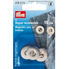 Magnetic buttons, silver-coloured, 19mm, 3pce