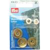 Magnetic buttons, gold-coloured, 19mm, 3pce
