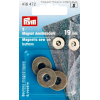 Magneetknopen, oudmessing, 19mm, 3st