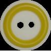 Bouton, 15mm, rond, blanc avec cadre jaune