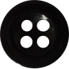 Knoop, 14mm, rond, zwart