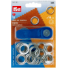 Eyelets, 14mm, silver-coloured
