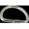 Anneaux demi-ronds, 30mm, fer nickel, argent
