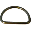 D-ring, 30mm, ijzer nikkel, zwart