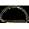 Anneaux demi-ronds, 30mm, fer nickel, noir