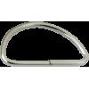D-ring, 40mm, ijzer nikkel, zilverkleurig