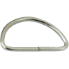 Anneaux demi-ronds, 40mm, fer nickel, argent