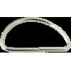 Anneaux demi-ronds, 50mm, fer nickel, argent