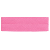 Bias binding, cotton, 20mm, pink (798) - per card (5m)