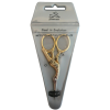 Embroidery scissors, with case, 9cm, gold