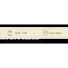 """Ruban """"Handmade"""", par 25cm"""
