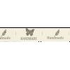 "Ribbon ""Handmade"", width: 25mm, per 25cm"