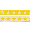 Ribbon, stars yellow, double sided, 12cm - per 25cm