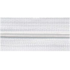 Zipper by the meter, nylon, white (501) - per 10cm