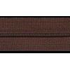 Zipper by the meter, nylon, brown (570) - per 10cm