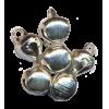 Petites cloches, argenté, 10mm (par 10)