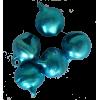 Belletjes, blauw, 10mm (per 5)