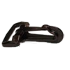 Carabiner, 30mm, plastic, black
