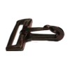 Musketonhaak, 50mm, plastic, zwart