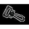 Musketonhaak, draaibaar, 20mm, plastic, zwart