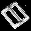Boucle coulissante, 25mm, argent, rectangulaire