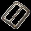 Boucle coulissante, 25mm, argent, rectangulaire-arrondis