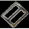 Boucle coulissante, 25mm, nickel noir, rectangulaire